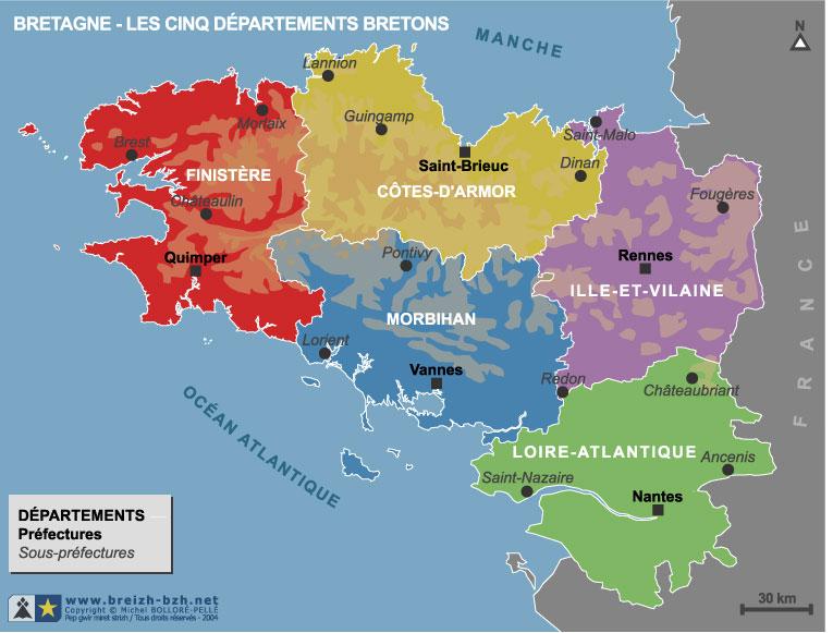 Carte Bretagne Avec Km.Vous Avez Cherche La Bretagne Ave C Ses Departements Carte